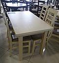 Стол Классик Люкс ваниль120(+40)*75 обеденный раскладной деревянный, фото 9