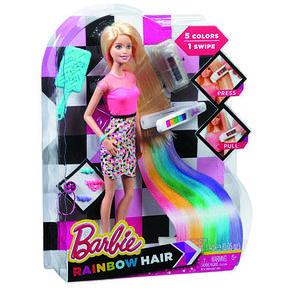 Кукла Barbie радужные волосы, фото 2