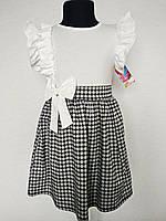 Детское платье для девочек размерами на 4, 6 и 14 лет, белого цвета