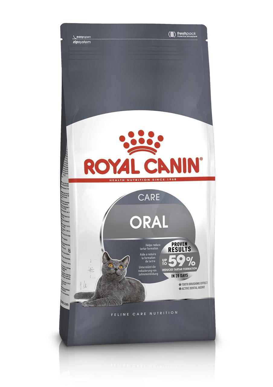 Сухой корм Royal Canin Oral Care для снижения образования зубного налета и камней у кошек 400 г