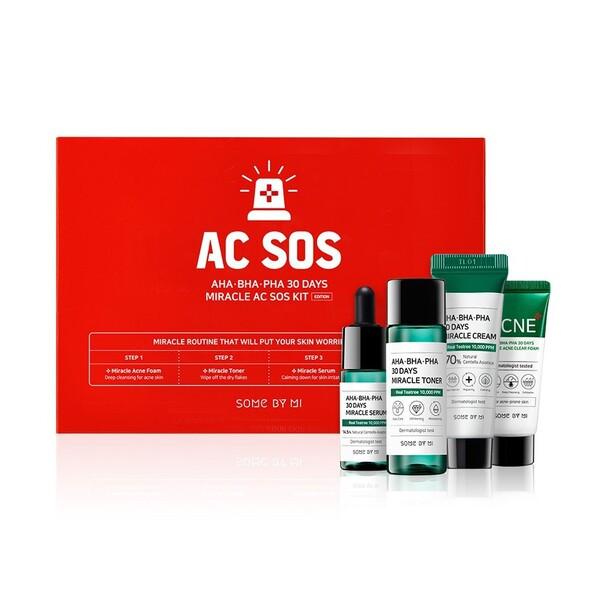 Набор миниатюр кислотных средств для проблемной кожи Some By Mi AHA-BHA-PHA 30 Days Miracle AC SOS Kit