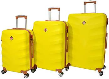 Набор чемоданов Bonro Next 3 штуки желтый  (10642307)