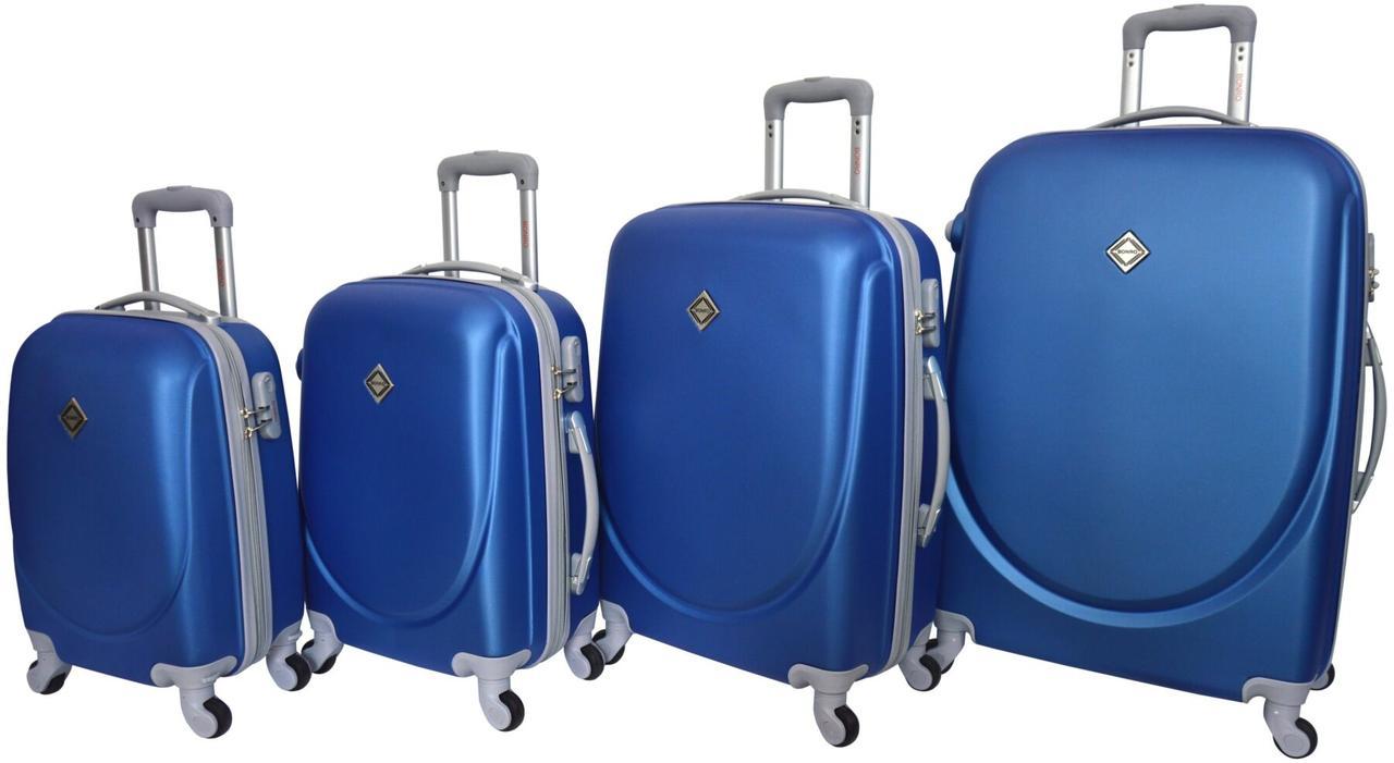 Набор чемоданов Bonro Smile 4 штуки синий (10050402)