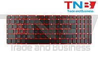 Клавиатура ACER Nitro 5 AN515-31 AN515-41 AN515-42 AN515-51 AN515-52 AN515-53 Черная с подсветкой RUUS