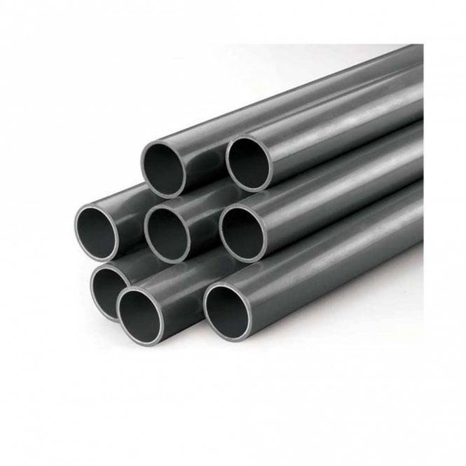 Труба напорная клеевая ПВХ Gemas диаметр 200 мм жесткая серая PN10  для газо и водопроводов, бассейнов