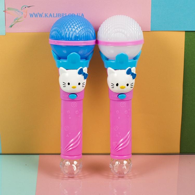 Детский, светящийся микрофон Hello Kitty