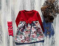 Платье детское 74-92 см двунить