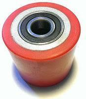 Замена ролика полиуретан гидравлической тележки