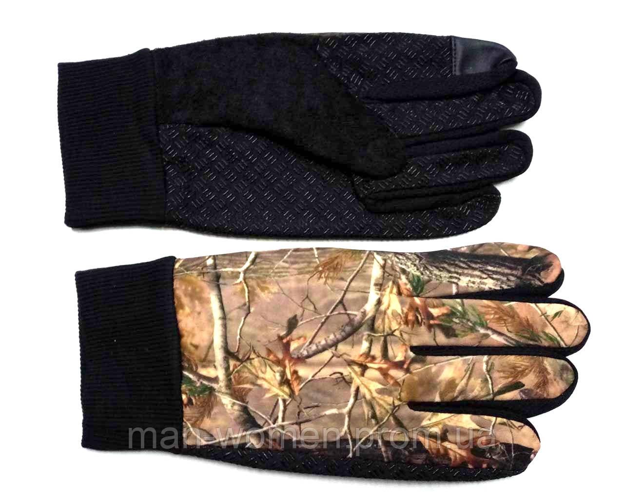 Перчатки лес, теплые (с небольшим начесом) антискользящие