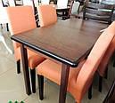 Стол Сид венге 120(+30)*70 обеденный раскладной деревянный, фото 4