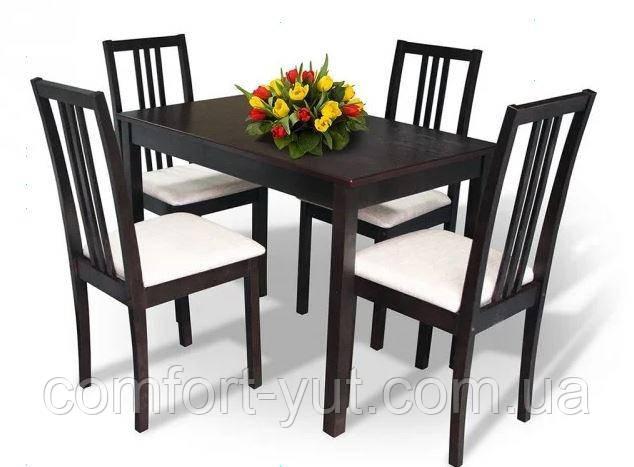Стол Сид венге 120(+30)*70 обеденный раскладной деревянный