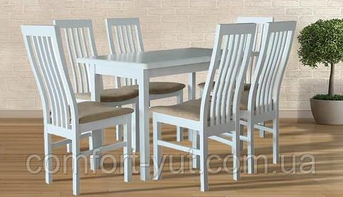 Стол Сид белый 120(+30)*70 обеденный раскладной деревянный