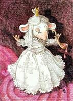 """Открытка """"Мышка белая королева"""", фото 1"""