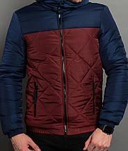 Куртка Андора бордово-синяя