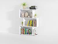 Стеллаж для дома, полка для книг из ДСП на 3 ячейки (4 ЦВЕТА) 700x974x238 мм Гарантия 1 ГОД!