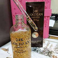 Сыворотка для лица Goldzan 24K Gold Ampoule, Сыворотка с пептидами и частицами 24k золота/ 100 мл