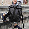 Роллтоп рюкзак мужской кожаный WLKR BAD - Фото