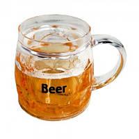 Пивная кружка Непроливайка боченок  beer, фото 1