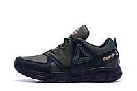 Мужские кожаные кроссовки Reebok Classic Tracking Green (реплика)
