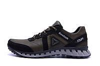 Мужские кожаные кроссовки  Reebok SPRINT TR  Olive (реплика), фото 1