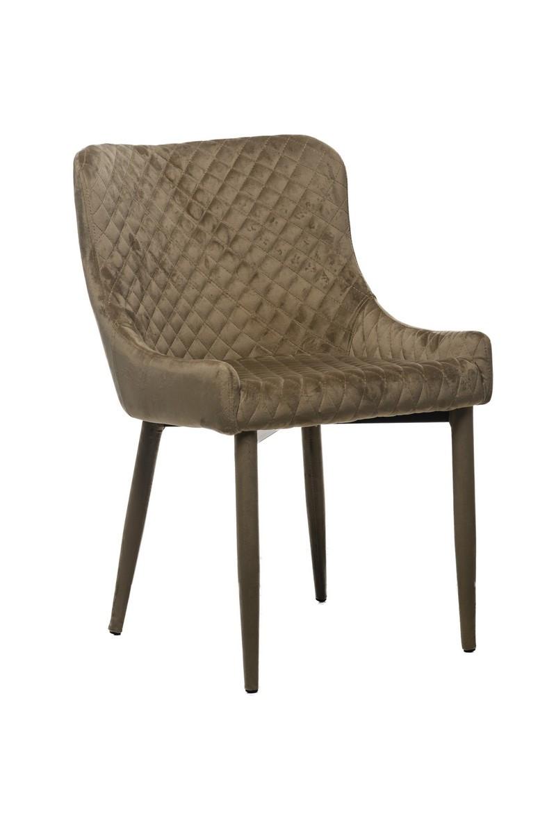 Стілець M-20 м'яке крісло, капучино вельвет в стилі модерн
