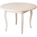 Стол круглый Элис бежевый 100(+40)*100 обеденный раскладной деревянный, фото 2
