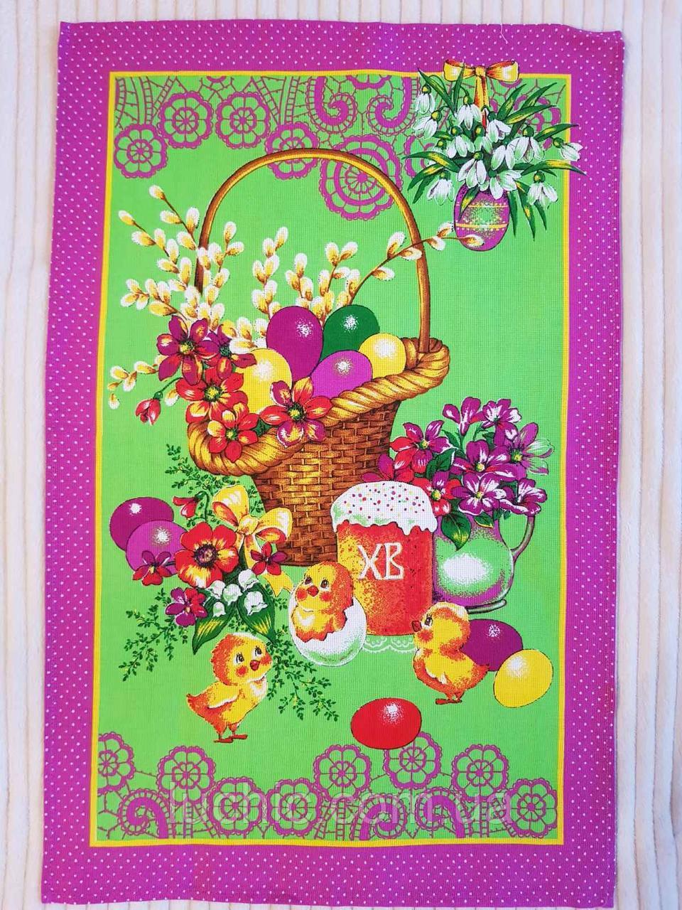 Пасхальные полотенца лен рушник на Пасху (В асортименте) 50х70 в уп. 10 шт произв. Тирасполь