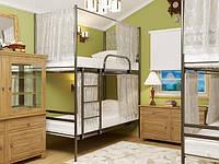 Двухъярусная металлическая кровать - Fly Duo (Флай Дуо) шторки