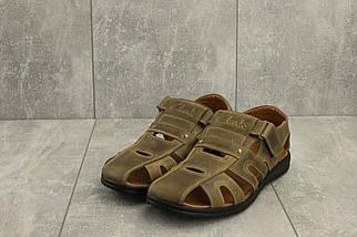 Босоножки Clarks 158 (лето, мужские, натуральная кожа, оливковый), фото 2