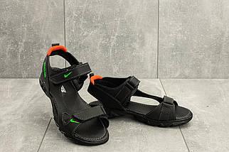 Босоножки Yuves 311 (Nike) (лето, подростковые, натуральная кожа, черный)