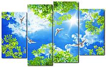 Модульна картина Три голуби в небі Код: W2176