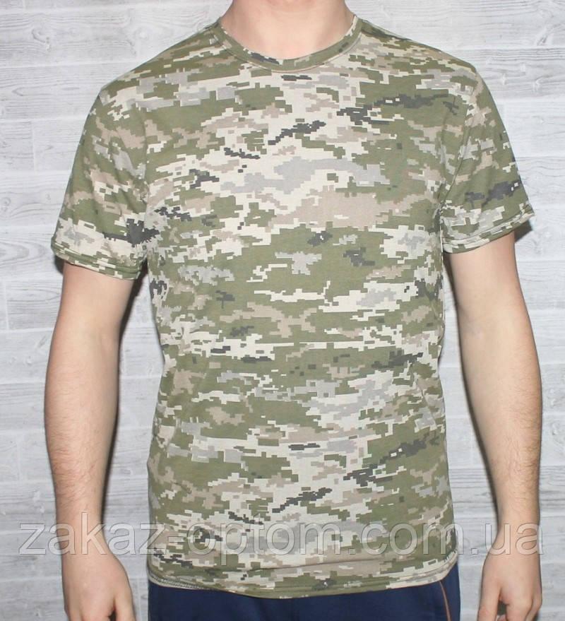 Футболка мужская камуфляж 100%cotton (46-54)-48766