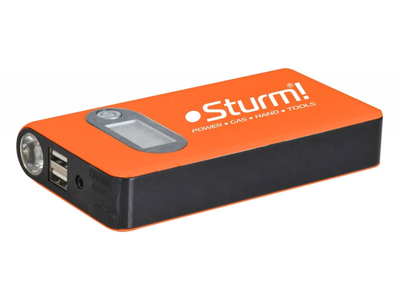 Многофункциональный аккумулятор и автономное пусковое устройство Sturm BC1212 / 2 года гарантия