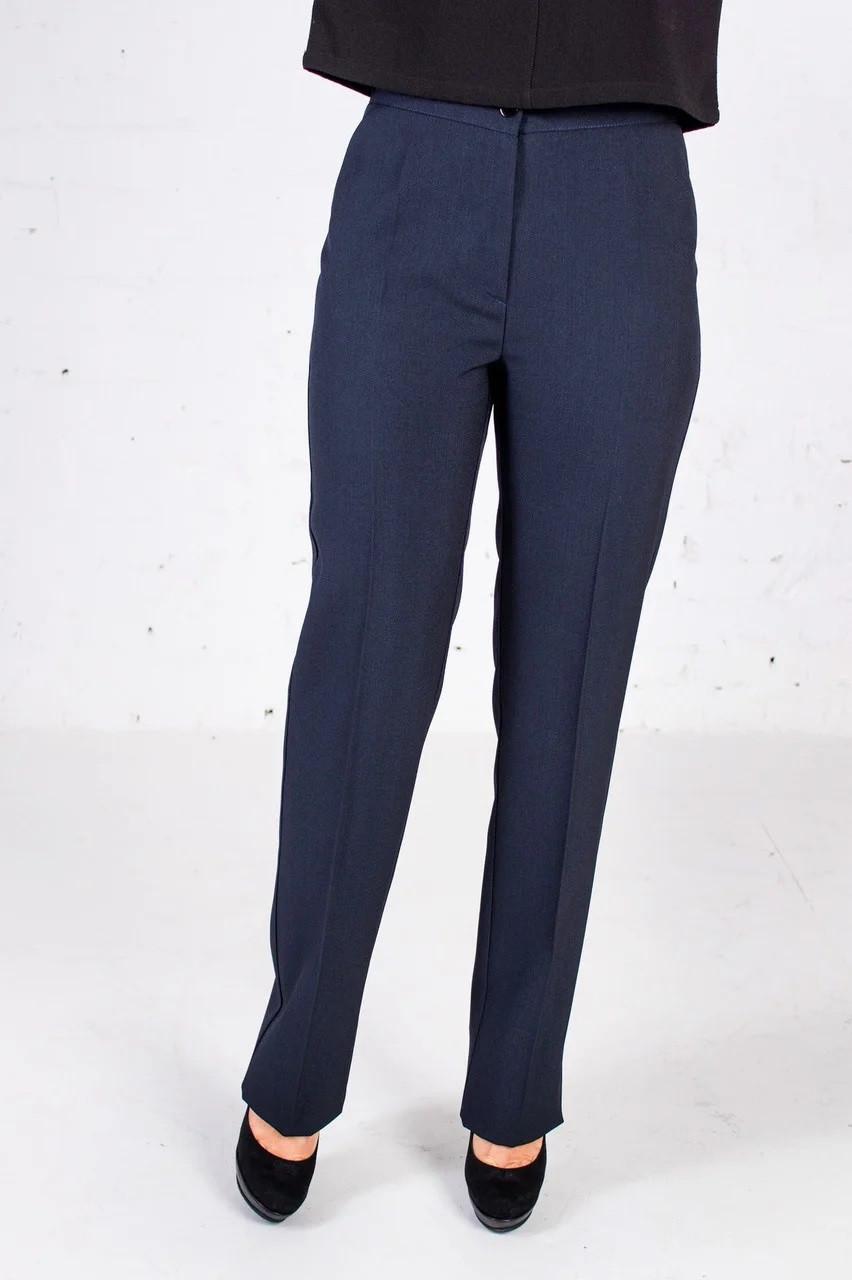 Классические прямые брюки синие