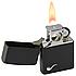 Зажигалка бензиновая Zippo 218 PL BLACK MATTE (Черная матовая, для трубок)., фото 5