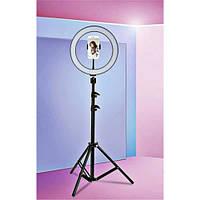 Кольцевая LED лампа на штативе для блогера 36 см