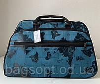 Яскрава стильна дорожня текстильна сумка-саквояж містка