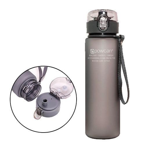 Бутылка для воды 560мл с дозатором для спорта POWCAN