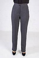 Прямые брюки в классическом стиле серые
