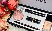 Подарочный женский набор Chanel 5 в 1 косметика и туалетная вода