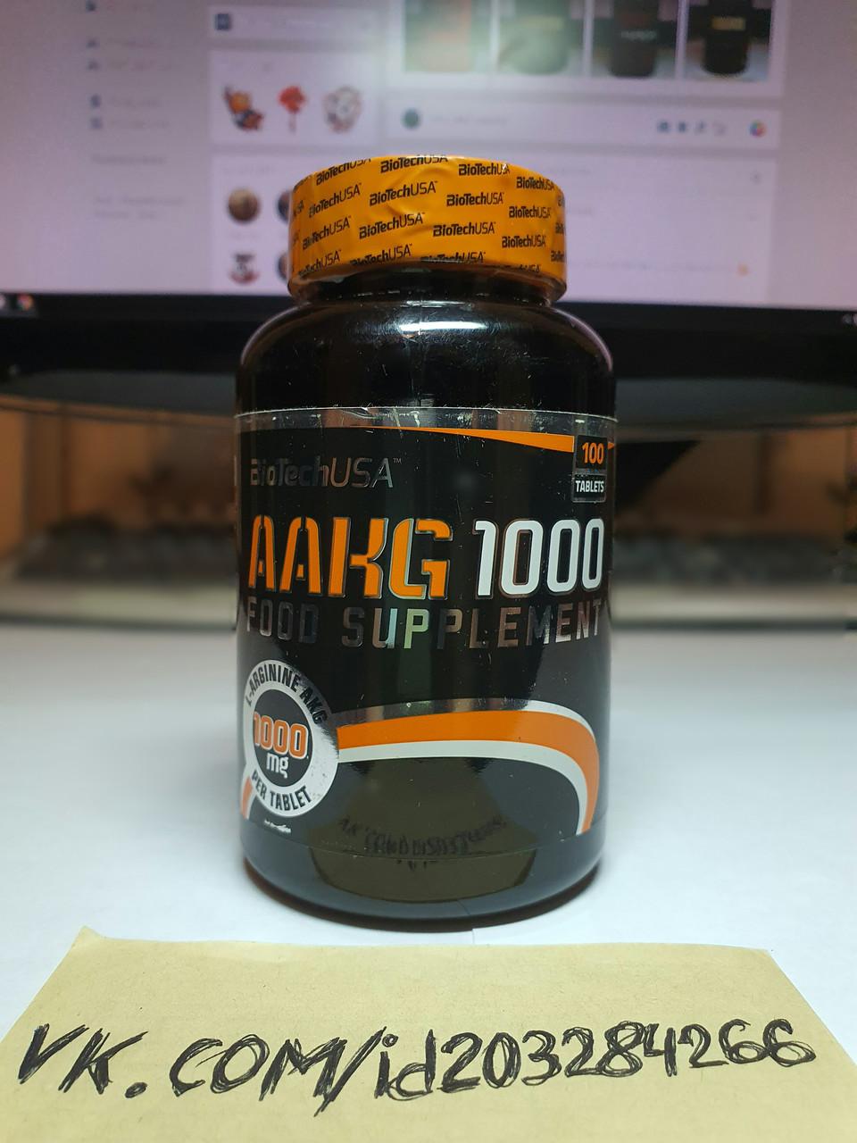 Аргинин BioTech AAKG 1000 100 таб