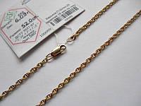 Золотые цепи плетение Жгут, Спираль, Бисмарк, Шарлотта длина 55 см., фото 1
