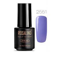 Гель-лак для ногтей маникюра 7мл Rosalind, шеллак, 2551 лавандовый