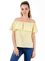 Блуза женская летняя с рюшами TR301 (жёлтый)