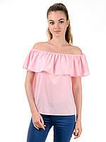 Блуза женская летняя с рюшами TR300 (розовый)