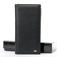 Мужское кожаное портмоне Classic кожа DR. BOND WMB-3M black.Мужские кошельки оптом в Украине