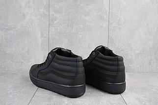 Мужские кеды кожаные зимние черные-матовые CrosSAV 125, фото 3