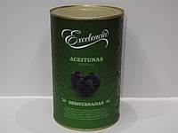 Оливки черные без косточки Excelencia 4150 г