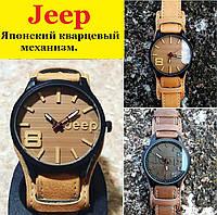 Мужские наручные часы JEEP 1941 с кожаным браслетом.