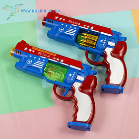 Дитячий іграшковий, що світиться пістолет Блок